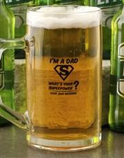 Personalised I'm a Dad Beer Mug