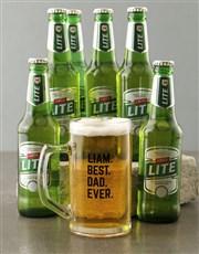 Personalised Best Dad Ever Beer Mug