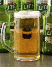 Personalised Father Beer Mug