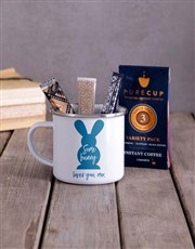 Personalised Some Bunny Camper Mug