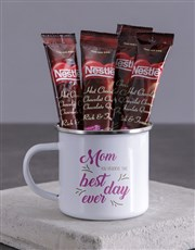 Personalised Mom Best Day Ever Camper Mug