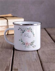 Personalised Floral Mothers Day Camper Mug