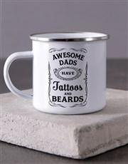 Personalised Awesome Dad Camper Mug