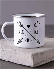 Personalised Couples Initials Camper Mug