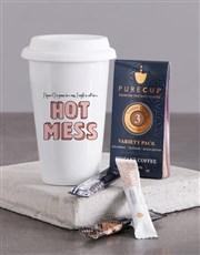 Personalised Hot Mess Ceramic Travel Mug