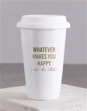 Personalised Whatever Makes You Happy Ceramic Trav