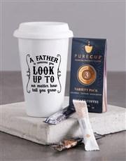 Personalised Fathers Ceramic Travel Mug