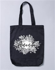 Personalised Vintage Rose Tote Bag