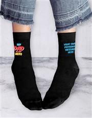 Personalised Super Dad Socks