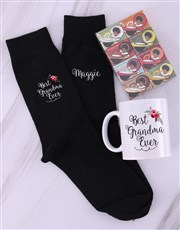 Personalised Grandma Socks & Mug
