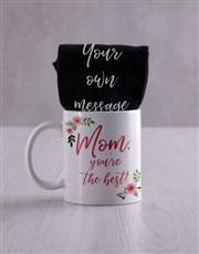 Personalised Mom Floral Socks & Mug