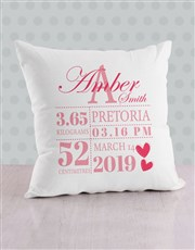 Personalised Baby Girl Birth Bed Set