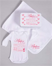 Personalised Baby Girl Birth Gift