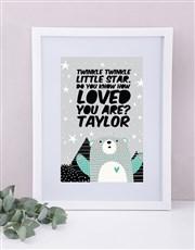 Personalised Framed Loved Print
