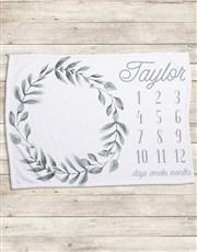 Personalised Wreath Milestone Blanket