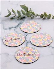 Personalised Pyramid Colours Coaster Set