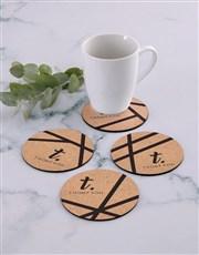 Personalised Patterned Coaster Set