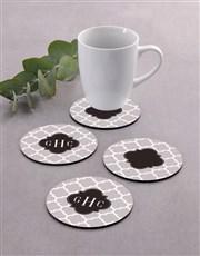 Personalised Monogram Coaster Set