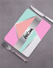Personalised Shapes Placemat Set