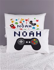 Personalised Fun and Games Pillow Case Set