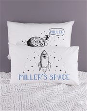 Personalised Space Pillow Case Set