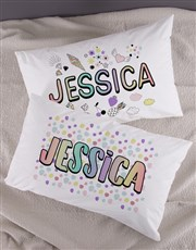 Personalised Badges Pillow Case Set