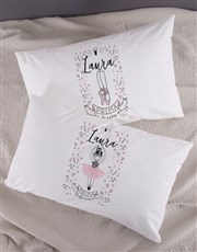 Personalised Ballerina Pillow Case Set