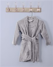 Personalised Favourites Grey Fleece Gown