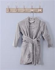 Personalised Stars Grey Fleece Gown