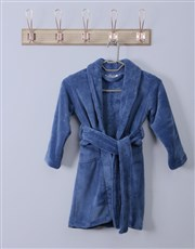 Personalised Super Blue Fleece Gown