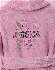 Personalised Icons Fleece Gown