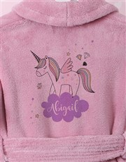 Personalised Unicorn Sparkle  Fleece Gown