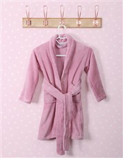 Personalised Unicorn Sparkle Pink Fleece Gown