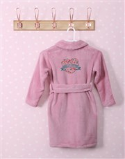 Personalised Floral Heart Fleece Gown