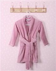 Personalised Princess Pink Fleece Gown