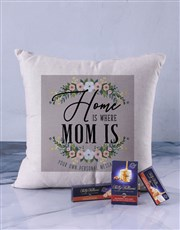 Personalised Home is Where Grandma Scatter Cushion