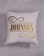 Personalised Gold Foil Initial Scatter Cushion