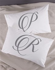 Personalised Initials Pillowcase Set
