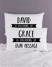 Personalised Dreaming Pillowcase Set