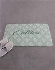 Personalised Name and Surname Bath Mat