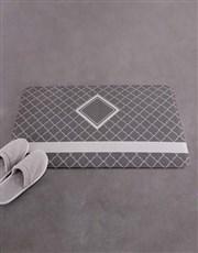 Personalised Name and Surname Diamond Bath Mat