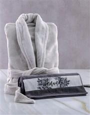Personalised Vintage Rose Gown And Towel