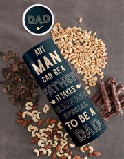 Personalised Special Dad Biltong And Nuts Tube