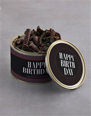 Personalised Birthday Biltong Tin With Chocs