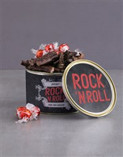 Personalised Rock And Roll Biltong Tin With Chocs
