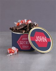 Personalised Secret Stash Biltong Tin With Chocs