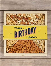 Personalised Twinkling Birthday Nut Crate