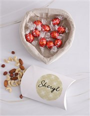 Personalised Choc And Nut Basket