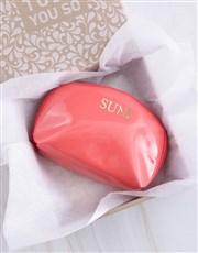 Personalised Embossed PU Coral Cosmetic Bag