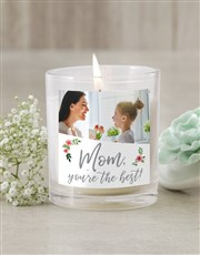Personalised Mom Photo Candle